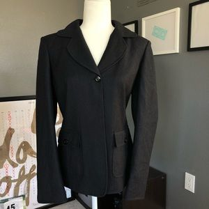 Ellen Tracy black wool blazer Sz 8